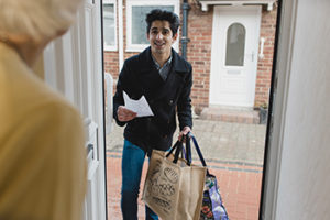 Delivering Groceries to an Elderly Woman